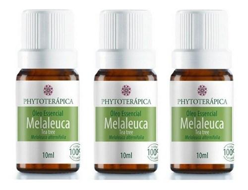 Óleo Essencial Melaleuca ( Tea Tree ) Phytoterápica 3X10Ml (Melaleuca, Frasco, Mista)