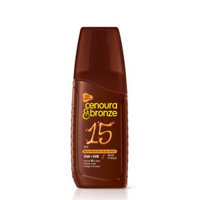 Óleo Protetor Solar Spray Cenoura e Bronze FPS15 com 110ml