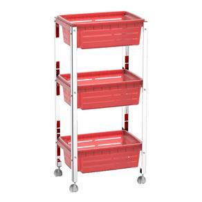 Organizador Brinox Cesta Plástica Suprema Vermelho