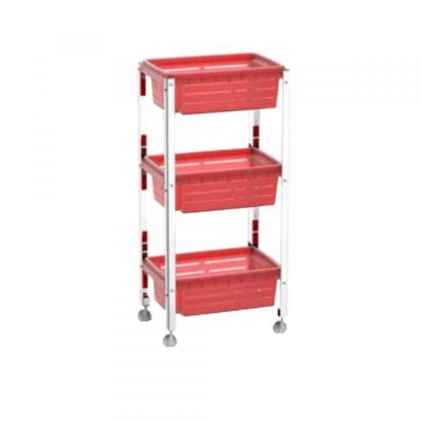Organizador Cesta Plástica - Suprema 33x23,7x70,5 Cm - Brinox