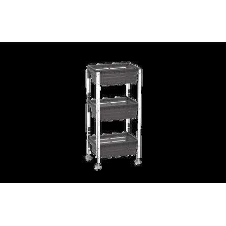 Organizador Cesta Plástica - Suprema 33x23,7x70,5 Cm Fumê Brinox