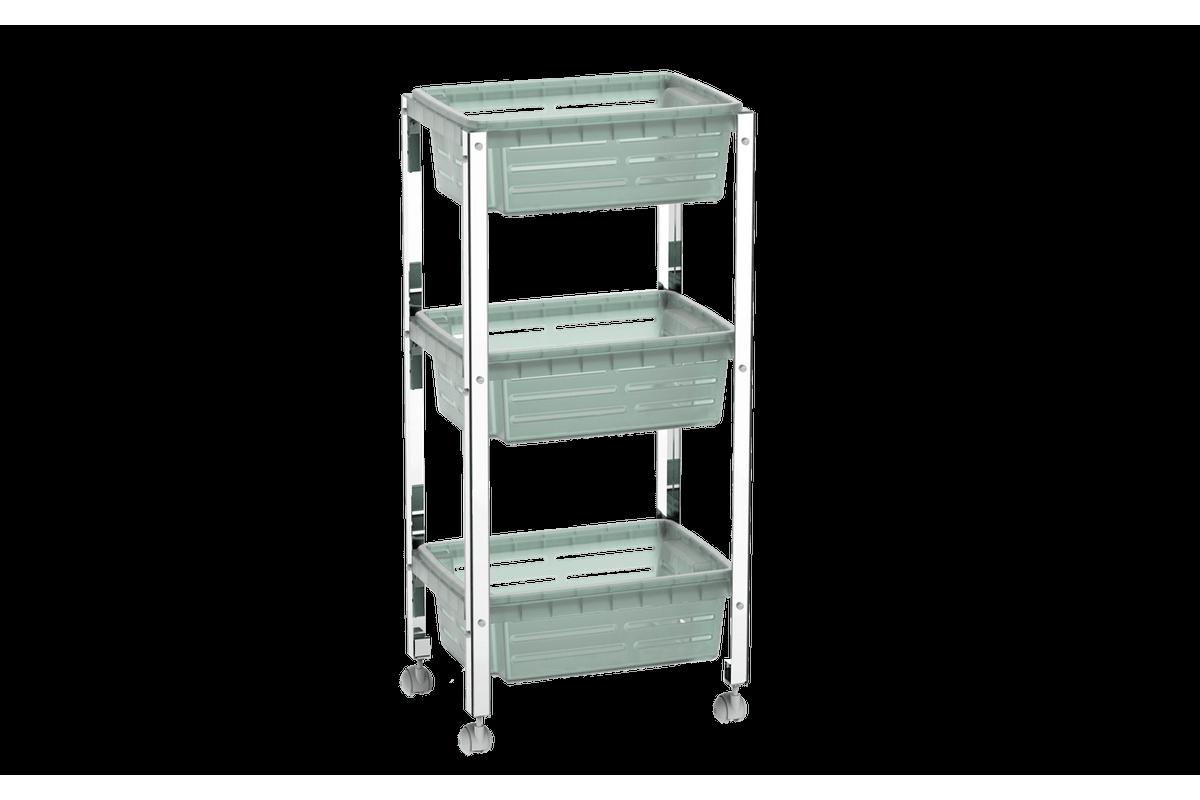 Organizador Cesta Plástica - Suprema 33x23,7x70,5 Cm Menta Brinox