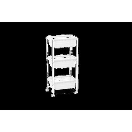 Organizador Cesta Plástica - Suprema 33x23,7x70,5 Cm Natural Brinox