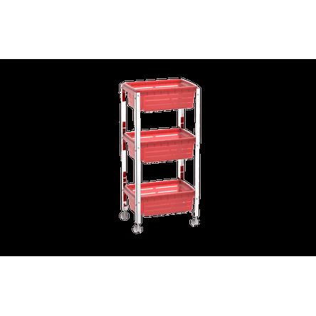 Organizador Cesta Plástica - Suprema 33x23,7x70,5 Cm Vermelho Brinox