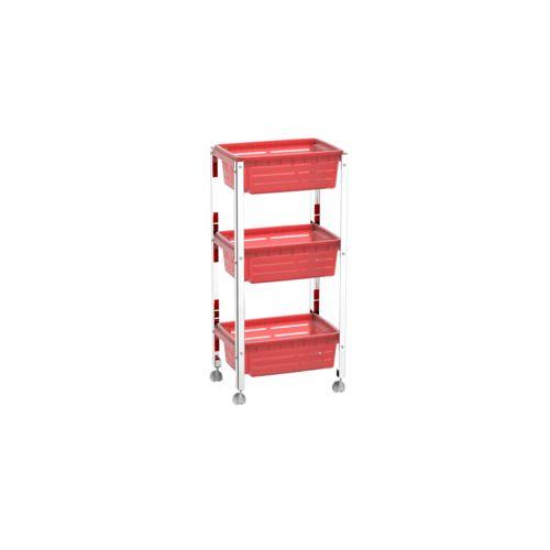 Organizador Cesta Plástica - Suprema 33x23,7x70,5 Cm Vermelho Marca Brinox