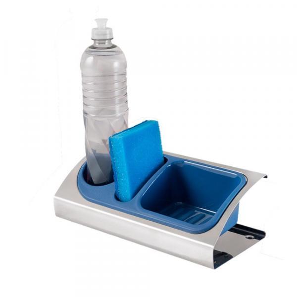 Organizador para Pia 25,5 X 12,5 X 8 Cm Azul - Brinox