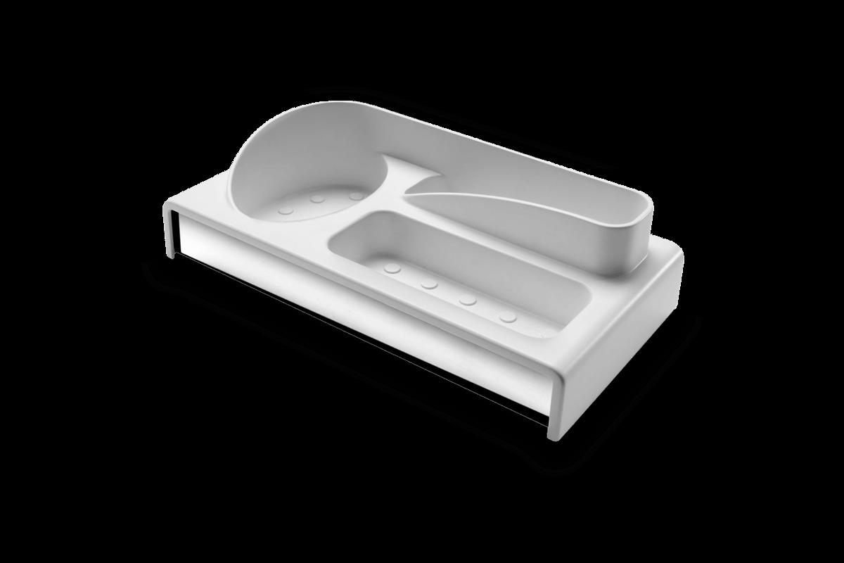 Organizador para Pia Multiuso - Suprema 24 X 12,5 X 6,5 Cm Branco Brinox