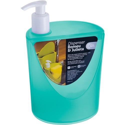 Organizador Suporte Dispenser Detergente Esponja para Pia Verde
