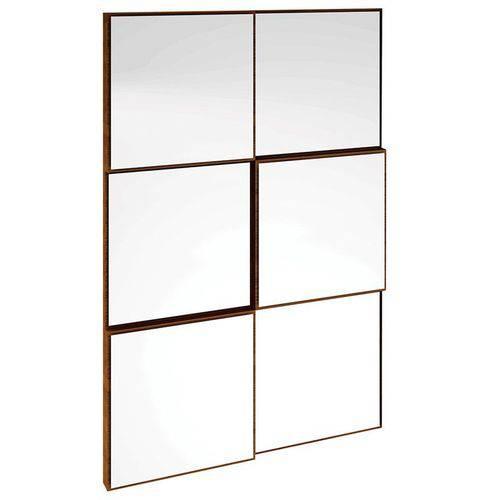 Tudo sobre 'Painel Decorativo Quadriculado 3d Nobre Espelho - Dalla Costa'