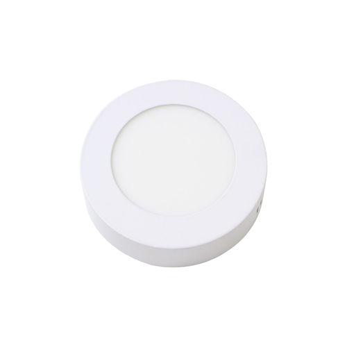 Painel Plafon Led 6w Luminária Sobrepor Redondo Branco Quente St534