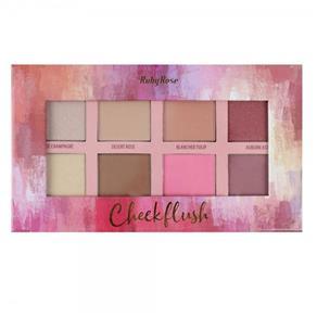 Paleta Cheek Flush Ruby 8 Cores - Hb-7507
