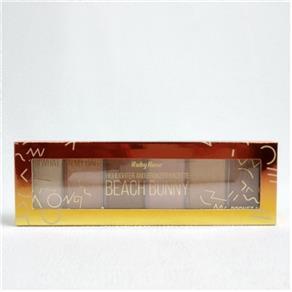 Paleta de Iluminador e Bronzeador 6 Cores Beach Bunny 16x5cm Ruby Rose