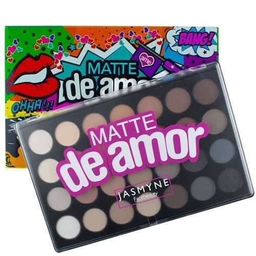 Paleta de Sombras Matte de Amor Jasmyne - 28 Cores