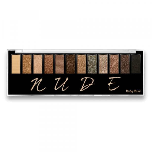 Paleta de Sombras Ruby Rose HB-9911 Nude - 12 Cores - 17,2g