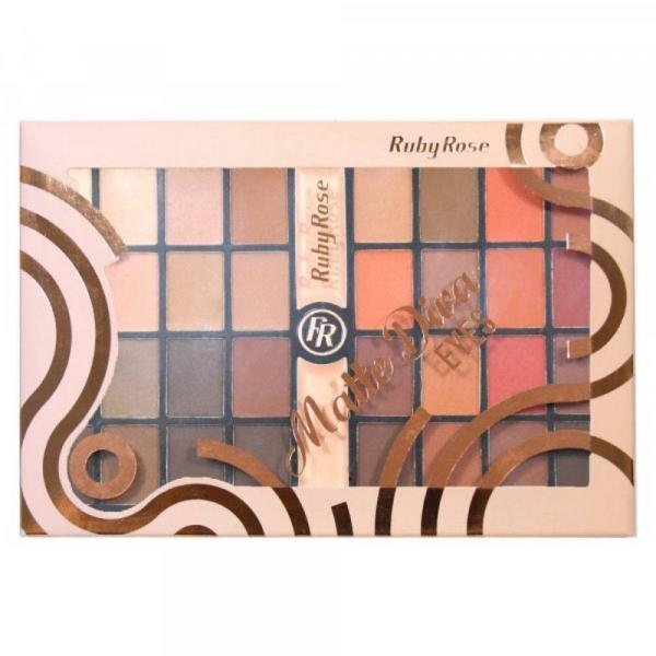 Paleta de Sombras Ruby Rose Matte Diva Eyes 32 Sombras - HB9974