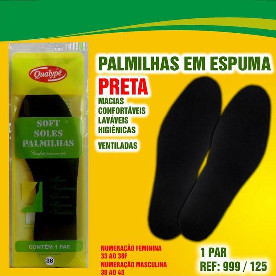 Tudo sobre 'Palmilha Espuma para Ajuste do Calçado Qualypé Soft Solespreto 33'