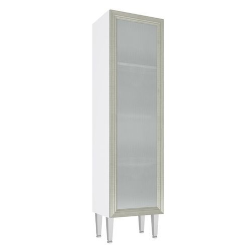 Paneleiro Art In 40Cm 1 Porta com Vidro - Branco/Nude