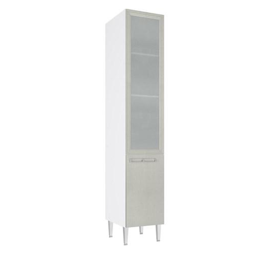 Paneleiro Art In 40Cm 2 Portas com Vidro Branco/Nude