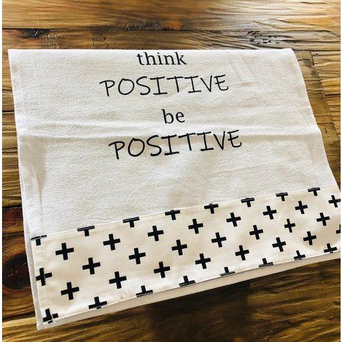Pano de Prato Think Positive-Divino Pano