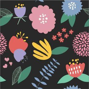 Papel de Parede Adesivo Flores da Lú FL13088