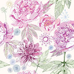 Papel de Parede Adesivo - Flores - N0138