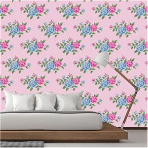 Papel de Parede Adesivo - Rosas - Flores - 908
