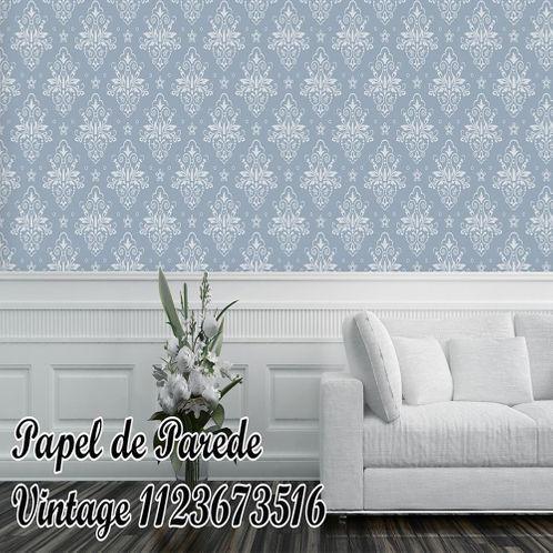 Papel de Parede Adesivo Vintage Azul 1123673516