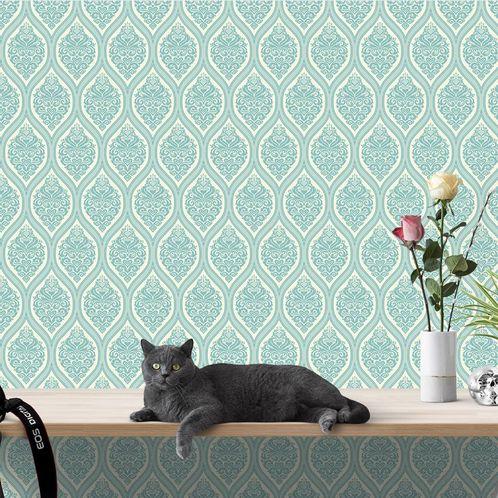 Papel de Parede Adesivo Vintage Azul 274288781
