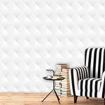 Papel de Parede Auto Adesivo Lavável Abstrato 3d Branco