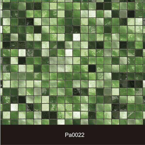 Papel de Parede Auto Adesivo Lavável Pastilha Pa0022 Verde
