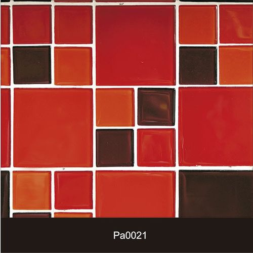 Papel de Parede Auto Adesivo Lavável Pastilha Pa0021 Vermelha