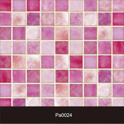 Papel de Parede Auto Adesivo Lavável Pastilha Pa0024 Rosa