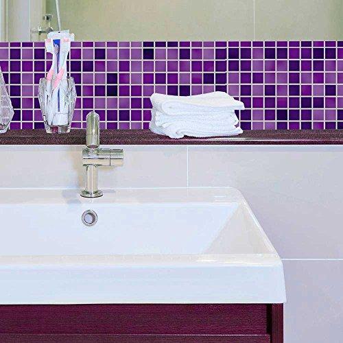 Papel de Parede Auto Adesivo Lavável Pastilha Pa0053 Violeta