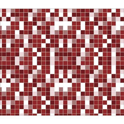 Papel de Parede Auto Adesivo Lavável Pastilha Vermelha