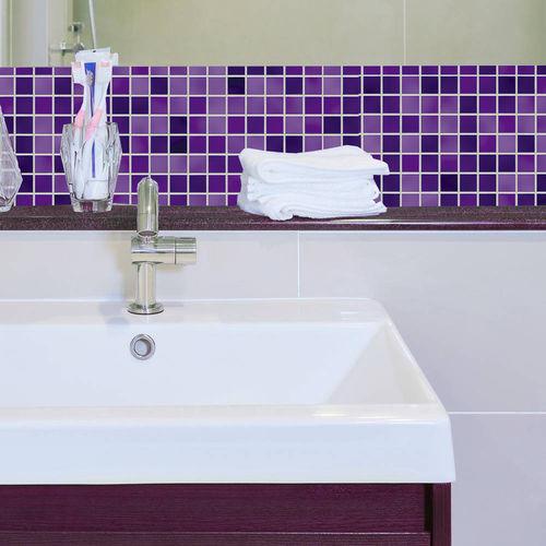 Papel de Parede Auto Adesivo Lavável Pastilha Violeta