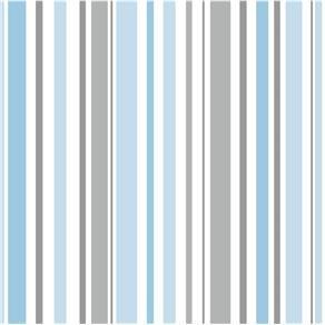 Papel de Parede Bobinex Listra Azul e Cinza