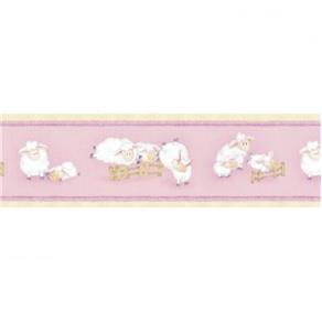 Papel de Parede Cuentos Rosa 500x17cm Muresco