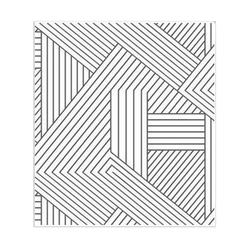 Papel de Parede Geométrico Cru e Preto Picnic Vinilizado 53cm X 10m Muresco
