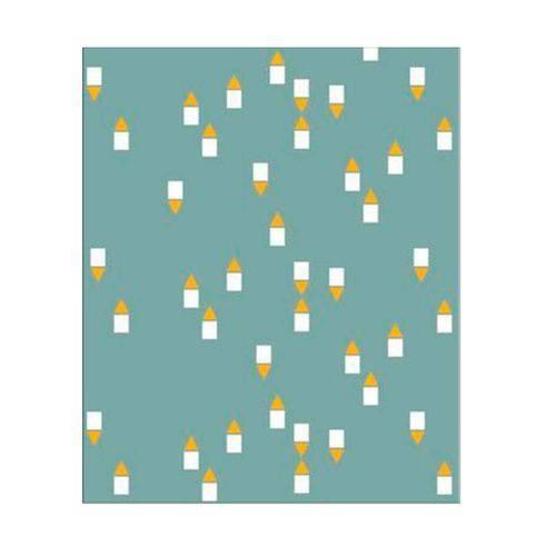 Papel de Parede Geométrico Mini Amarelo e Verde Picnic Vinilizado 53cm X 10m Muresco
