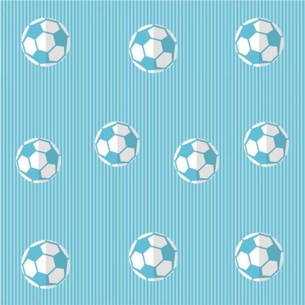 Papel de Parede Infantil Futebol Azul