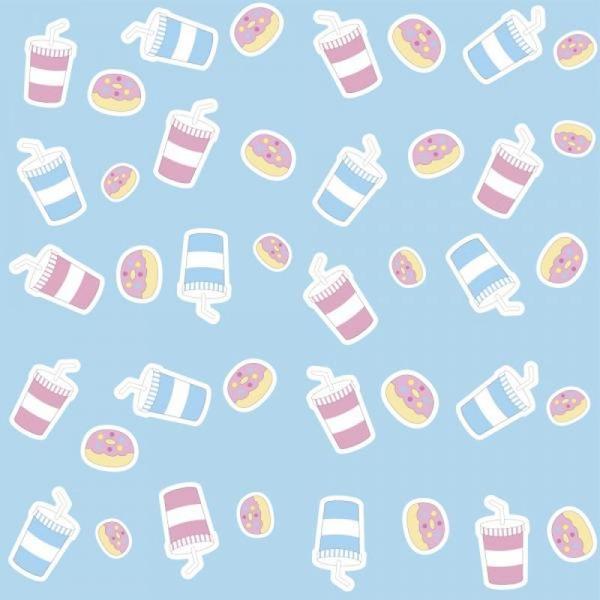 Papel de Parede Infantil Milk Shake e Donuts