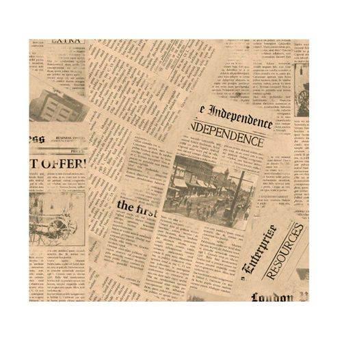 Papel de Parede Jornal Allegra Vinílico 53cm X 10m Muresco