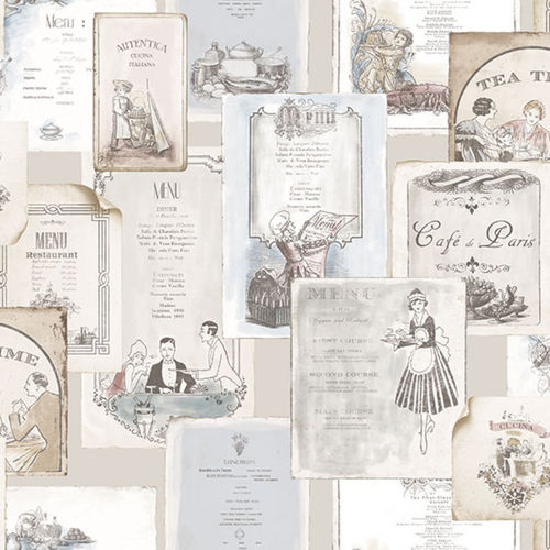Papel de Parede KITCHEN RECIPES G12287