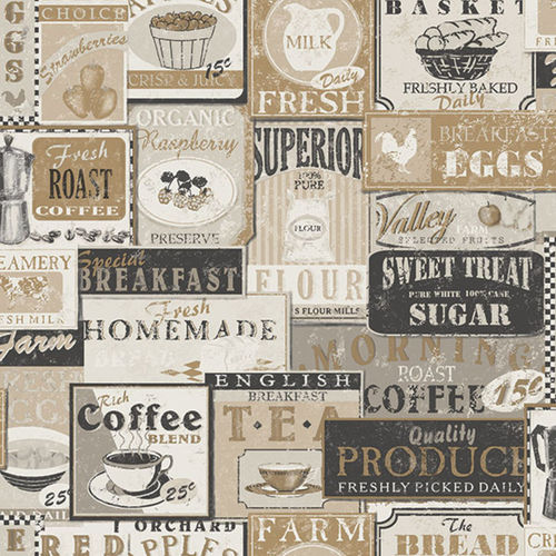 Papel de Parede Kitchen Recipes G12298