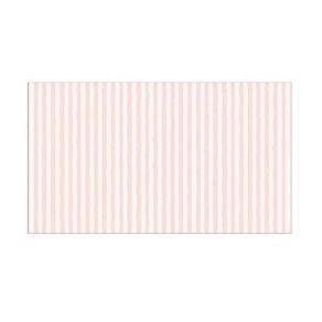 Papel de Parede Listrado Infantil Rosa e Branco 52cm X 10m Vinílico Revex Revex