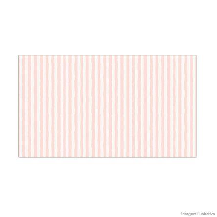 Papel de Parede Listrado Infantil Rosa e Branco 52cm X 10m Vinílico Revex