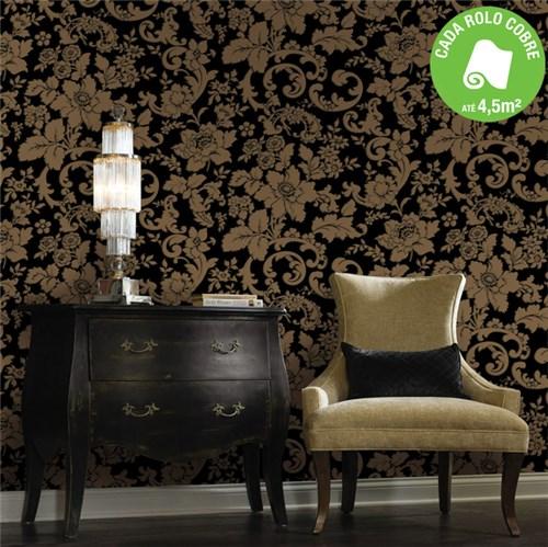 Papel de Parede Vinílico Floral Muresco 0,53x10m