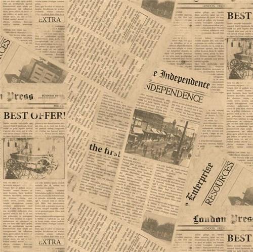 Papel de Parede Vinílico Jornal Muresco 0,53x10m