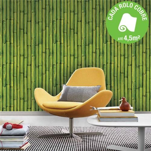 Papel de Parede Vinilizado Bambu Verde Rolo com 10m