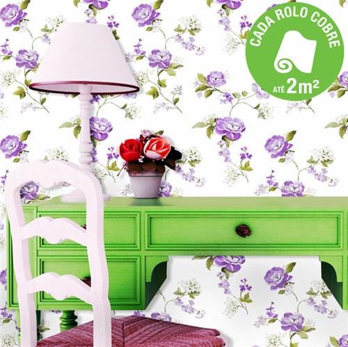 Papel de Parede Vinilizado Floral Muresco 0,53x6m